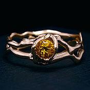 """Свадебный салон ручной работы. Ярмарка Мастеров - ручная работа """"Моё Солнце"""". Золотое кольцо с цитрином.. Handmade."""