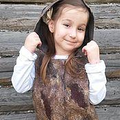 Работы для детей, handmade. Livemaster - original item Children`s felted vest