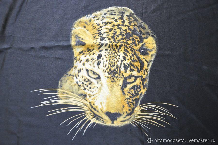 Шелк натуральный двухсторонний Леопард, Ткани, Москва,  Фото №1