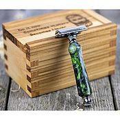 Косметика ручной работы handmade. Livemaster - original item Men`s straight razor in a wooden case. Handmade.