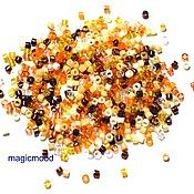 Материалы для творчества handmade. Livemaster - original item 5g 11/0 Delica MIX 22 honey Japanese seed beads Miyuki. Handmade.