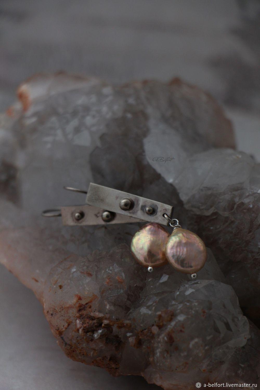 Stonehenge natural pearl earrings', Earrings, Omsk,  Фото №1