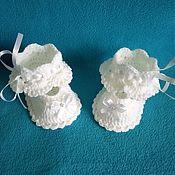 Пинетки ручной работы. Ярмарка Мастеров - ручная работа Пинетки туфельки для девочки. Handmade.