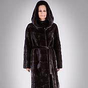 Одежда handmade. Livemaster - original item Mink coat, Scanblack in a Transverse Layout. Handmade.