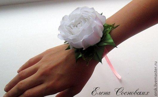 """Диадемы, обручи ручной работы. Ярмарка Мастеров - ручная работа. Купить Комплект  """"Белые розы"""". Handmade. Белый, греческая повязка"""
