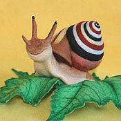Куклы и игрушки ручной работы. Ярмарка Мастеров - ручная работа Равлентий Улитоныч (игрушка улитка). Handmade.