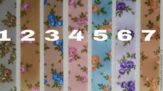 Шитье ручной работы. Ярмарка Мастеров - ручная работа. Купить Лента атласная 20 мм (шебби ленты). Handmade. Разноцветный