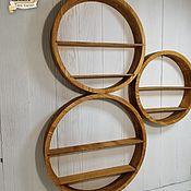 Для дома и интерьера handmade. Livemaster - original item Round wooden shelf. Handmade.