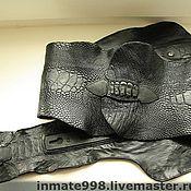 Одежда ручной работы. Ярмарка Мастеров - ручная работа пояс кожаный женский. Handmade.