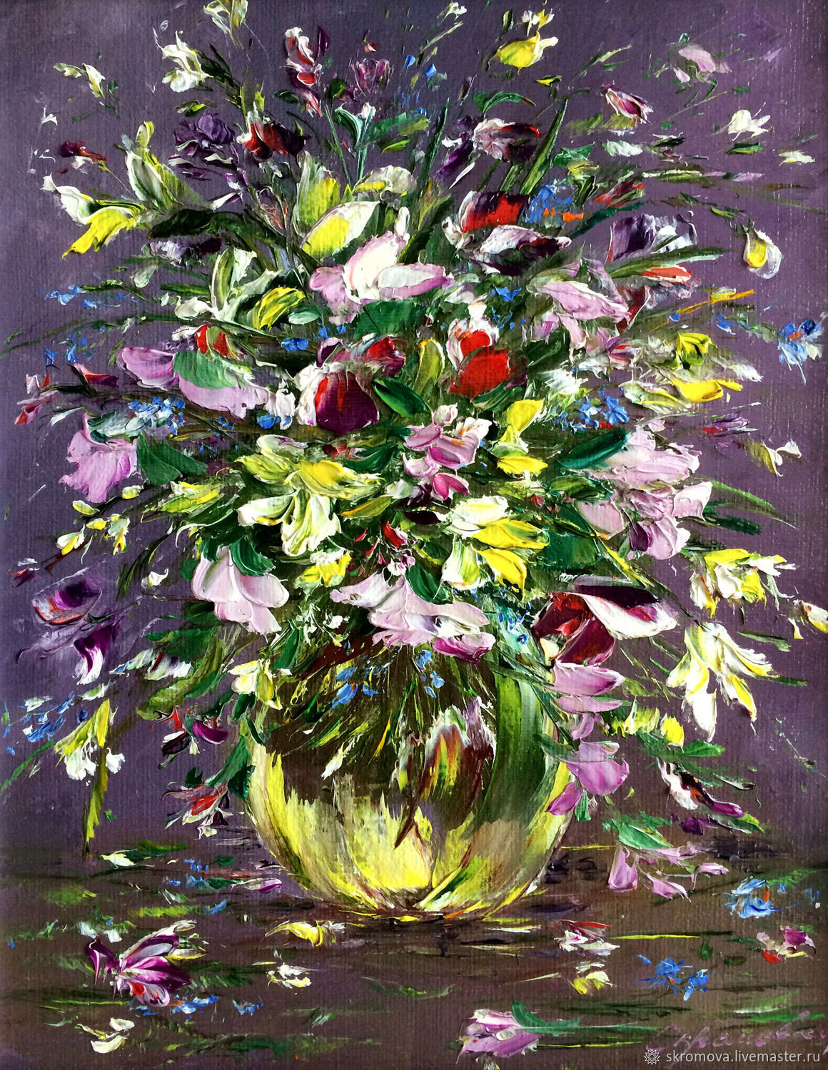 Oil painting wild flowers, Pictures, Moscow,  Фото №1