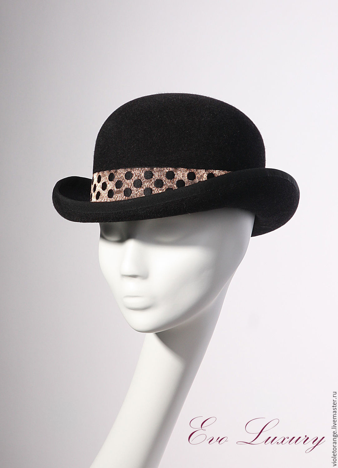 Black women s hat bowler hat of velour felt Fashion 2018 – shop ... a33dee72b