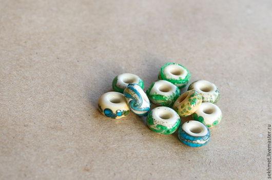 """Бусины пандора ручной работы. Ярмарка Мастеров - ручная работа. Купить Бусины для браслетов в стиле Пандора """"Рисунки на слоновой кости"""". Handmade."""