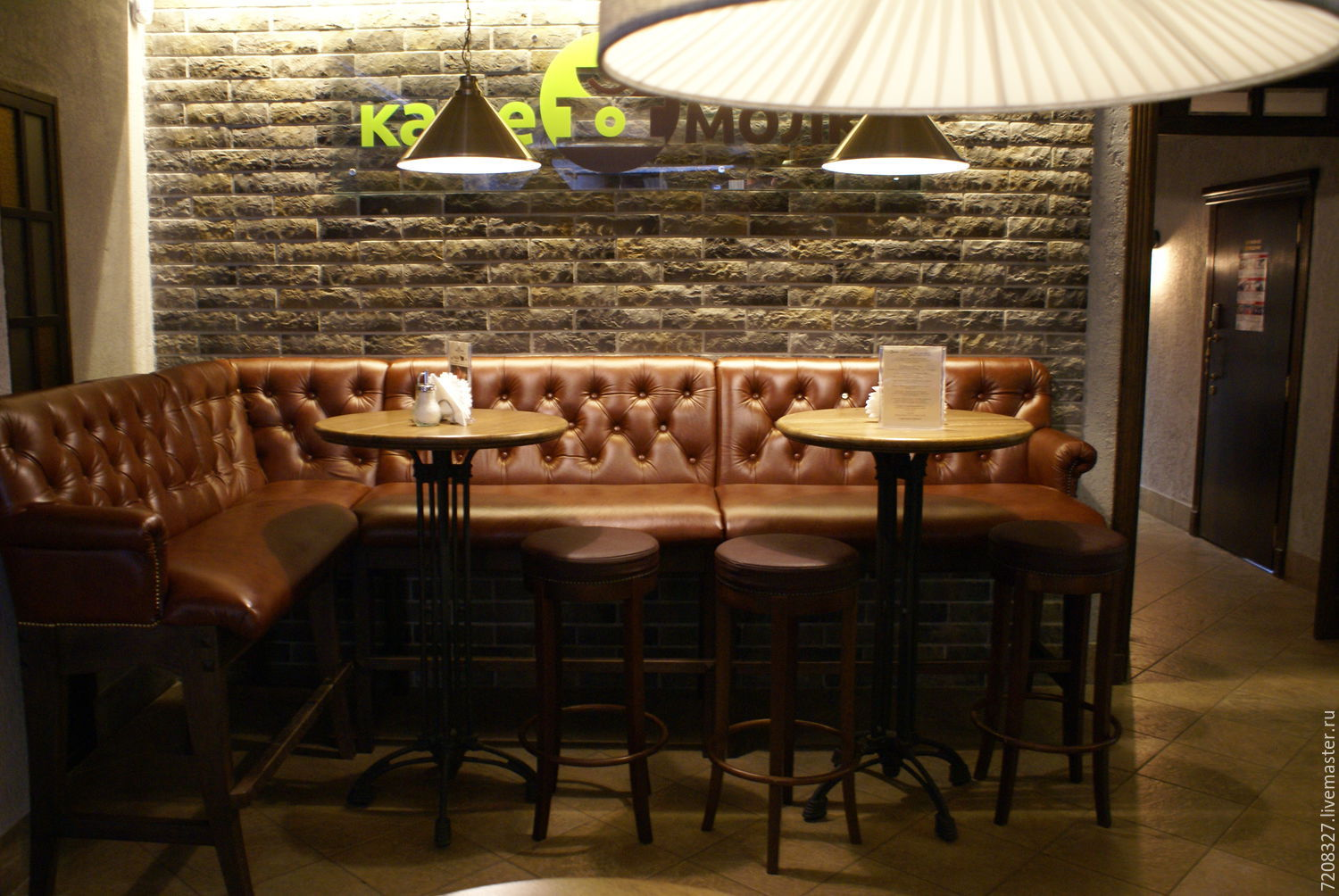 Made The Corner Bar On A High Sofa Oak Legs And Leather Upholstery In Chester