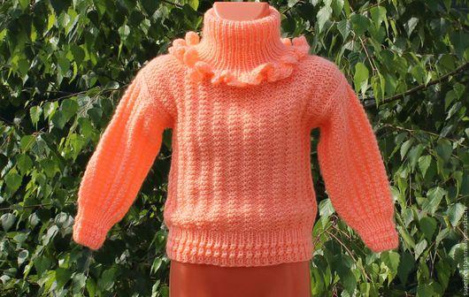 """Одежда унисекс ручной работы. Ярмарка Мастеров - ручная работа. Купить Детский вязаный свитер """"настроение"""". Handmade. Свитер"""
