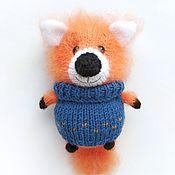 Мягкие игрушки ручной работы. Ярмарка Мастеров - ручная работа Вязаная игрушка лиса ручной работы рыжий лисенок амигуруми. Handmade.