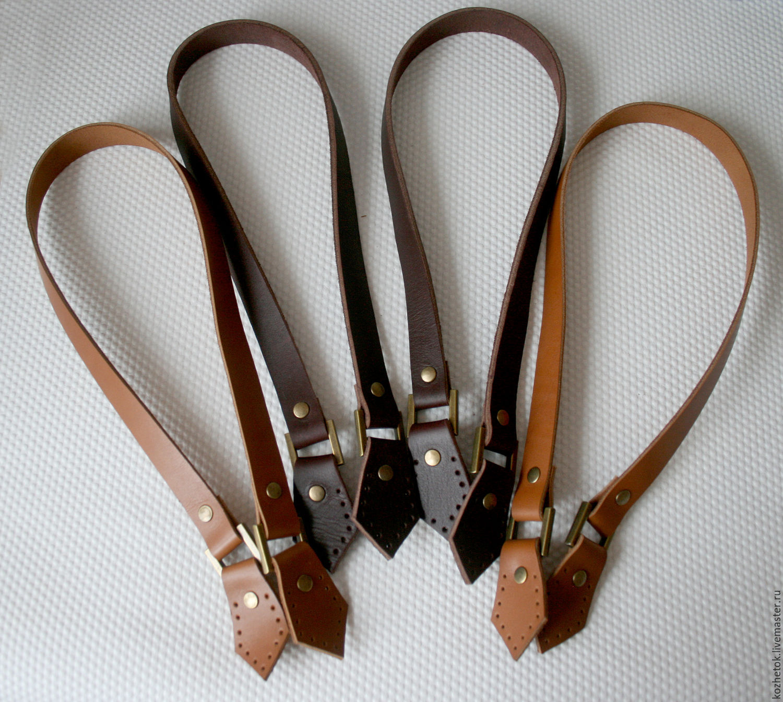 Кожаные ручки для сумки с ручной прошивкой
