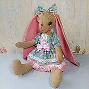 Куклы и игрушки ручной работы. Ярмарка Мастеров - ручная работа Зайка Бани с длинными ушками, зайчик с большими ушами, заяц девочка. Handmade.