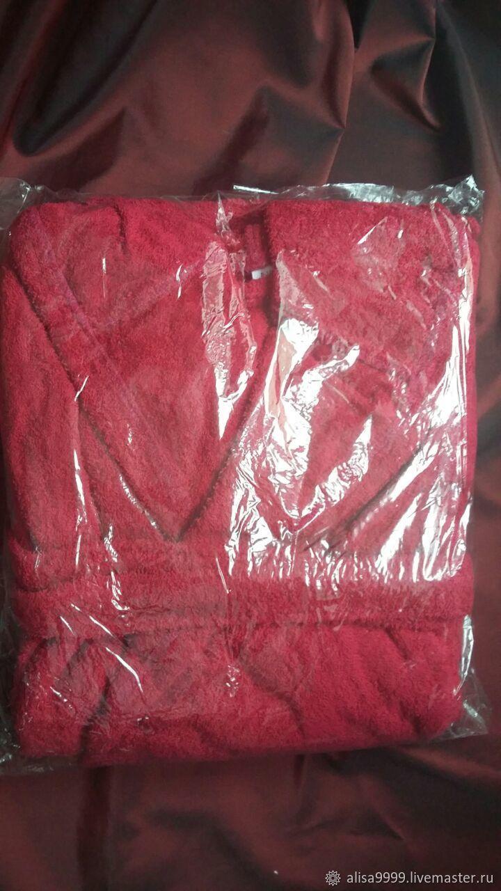 Children s Terry Bathrobe. Red.Cotton – shop online on Livemaster ... 81921d982