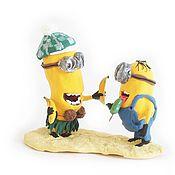 """Куклы и игрушки ручной работы. Ярмарка Мастеров - ручная работа фигурки """"Миньоны на пляже"""" (из фильма """"Гадкий Я""""). Handmade."""