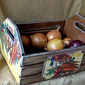 """Для дома и интерьера ручной работы. Ярмарка Мастеров - ручная работа Ящик для овощей """"Сбор урожая"""". Handmade."""