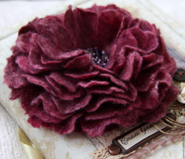 Цветок из шёлка своими руками 335