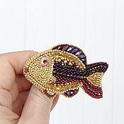 Украшения ручной работы. Ярмарка Мастеров - ручная работа Брошь - рыбка почти Золотая :). Handmade.