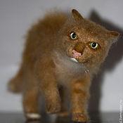 Куклы и игрушки handmade. Livemaster - original item felt toy: Fighting red cat. Handmade.