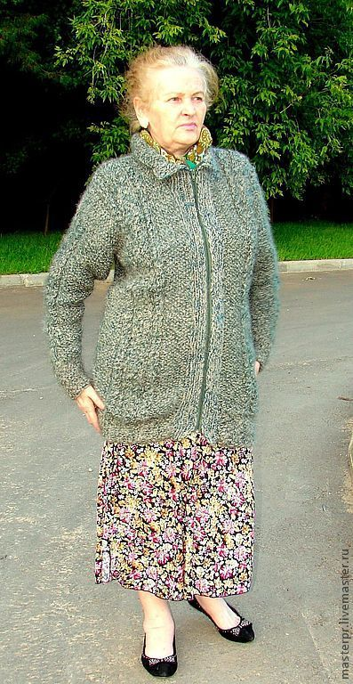jacket women's crocheted from yarn
