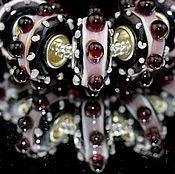"""Материалы для творчества ручной работы. Ярмарка Мастеров - ручная работа Шарм """"Вишня в шоколаде"""" для браслета. Handmade."""