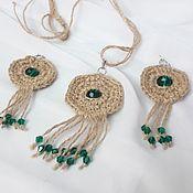 Украшения handmade. Livemaster - original item Jewelry set of jute Spring. Handmade.