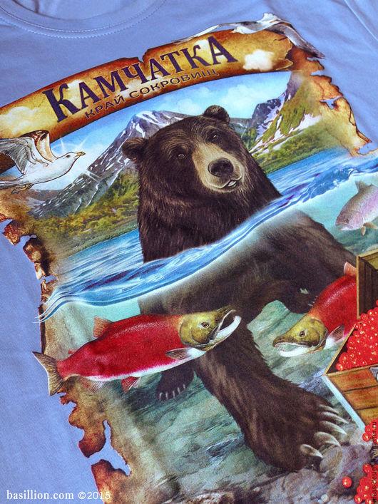 Камчатка - край сокровищ, сувенирная футболка