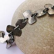 """Украшения ручной работы. Ярмарка Мастеров - ручная работа """"Элементарные частицы"""" серебряный браслет. Handmade."""