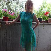 Одежда ручной работы. Ярмарка Мастеров - ручная работа Платье Изумруд и Бирюза. Abito  Smeraldo e Turchese. Handmade.