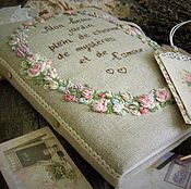 "Канцелярские товары ручной работы. Ярмарка Мастеров - ручная работа Блокнот""Mon beau jardin plein de charme de mysteres et l`amour"". Handmade."