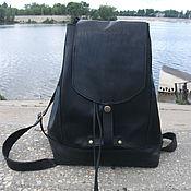Сумки и аксессуары handmade. Livemaster - original item Backpack leather Black Prince. Handmade.