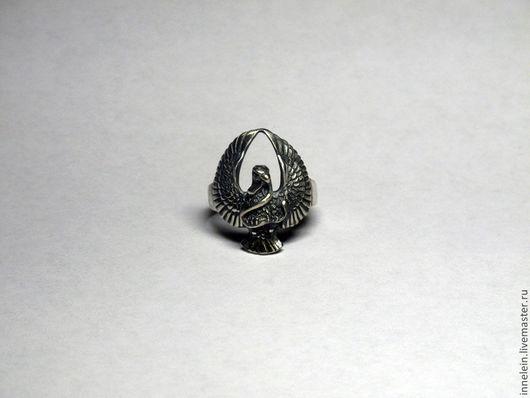 """Кольца ручной работы. Ярмарка Мастеров - ручная работа. Купить Серебряное кольцо """"Орел со змеей"""". Handmade. Серебряный, птица"""