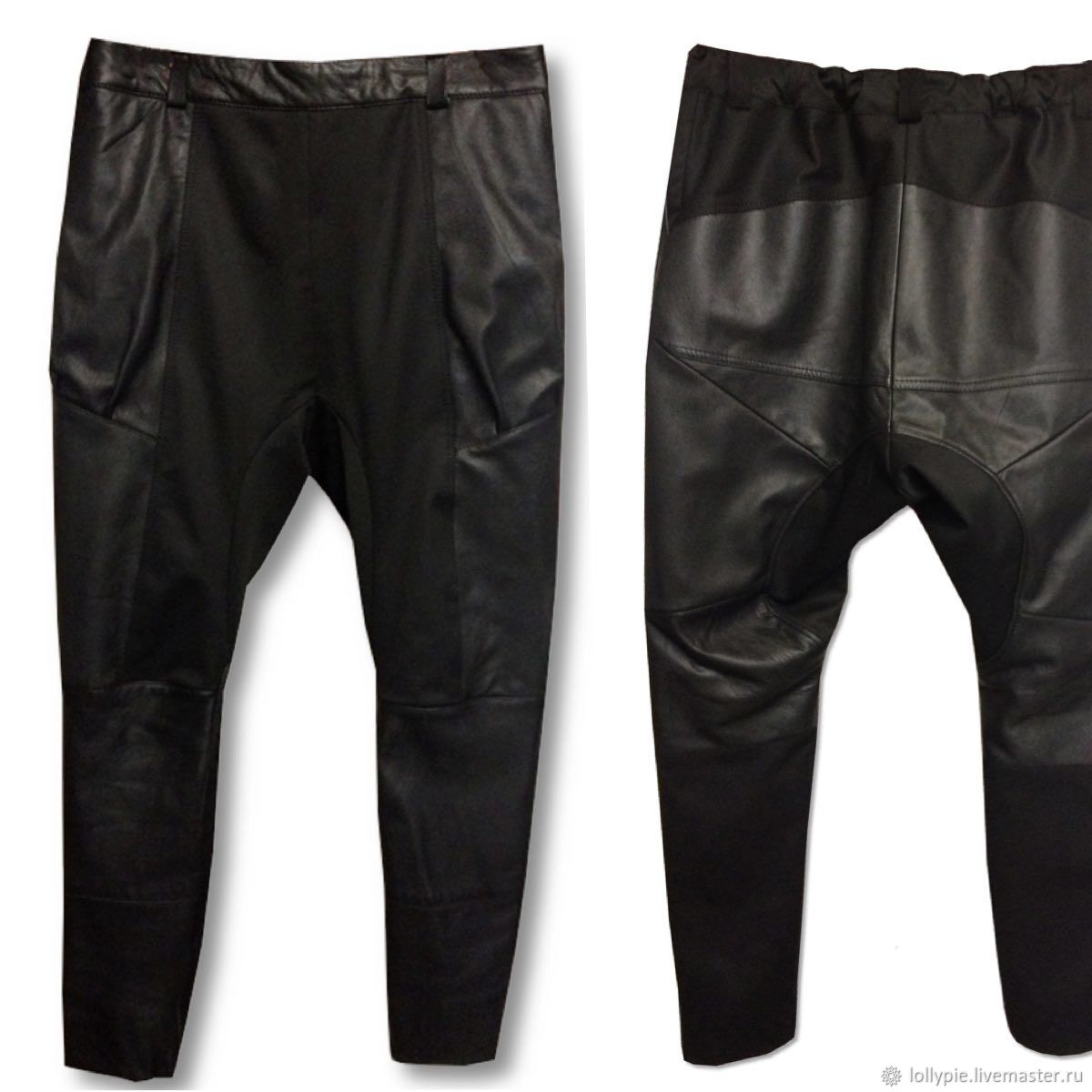 Leather trousers with a mottle combined, Pants, Moscow,  Фото №1