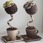 Цветы и флористика handmade. Livemaster - original item Coffee topiary mini. Handmade.