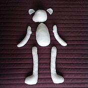 Материалы для творчества ручной работы. Ярмарка Мастеров - ручная работа мишка Сэм (заготовка) 37 см. Handmade.