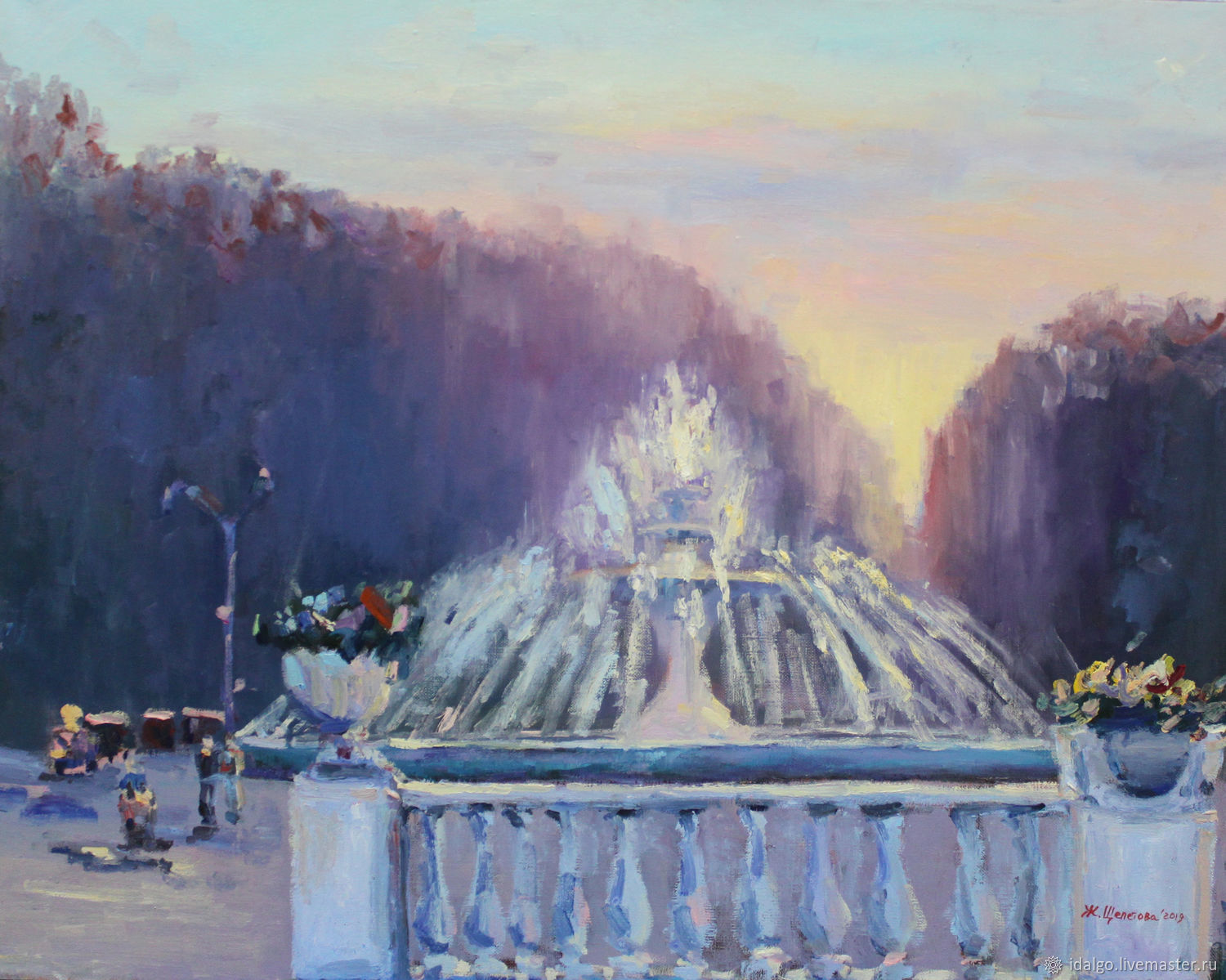 Oil painting 'Fountain in the Park', 75-60cm, Pictures, Nizhny Novgorod,  Фото №1
