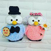 """Мягкие игрушки ручной работы. Ярмарка Мастеров - ручная работа Авторские пингвины """"Жених и невеста"""". Handmade."""