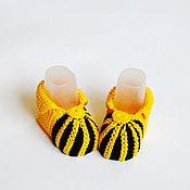 Работы для детей, handmade. Livemaster - original item Booties for girls. Handmade.