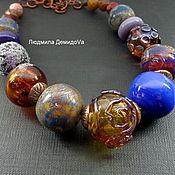 Украшения handmade. Livemaster - original item Necklace Magic charm lampwork. Handmade.
