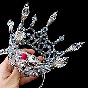 "Свадебный салон ручной работы. Ярмарка Мастеров - ручная работа Корона из хрусталя ""Ледяная искра"". Handmade."