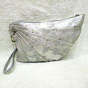 Сумки и аксессуары handmade. Livemaster - original item Bag leather silver