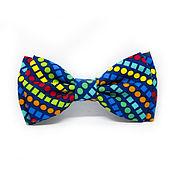 Аксессуары handmade. Livemaster - original item Bow tie blue with rainbow pattern. Handmade.