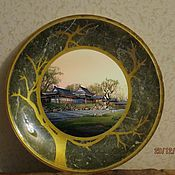 """Посуда ручной работы. Ярмарка Мастеров - ручная работа Тарелка """"Закат в Китае"""". Handmade."""