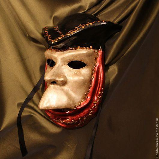 Интерьерные  маски ручной работы. Ярмарка Мастеров - ручная работа. Купить Маска венецианская Баута Инкогнито. Handmade. Папье-маше