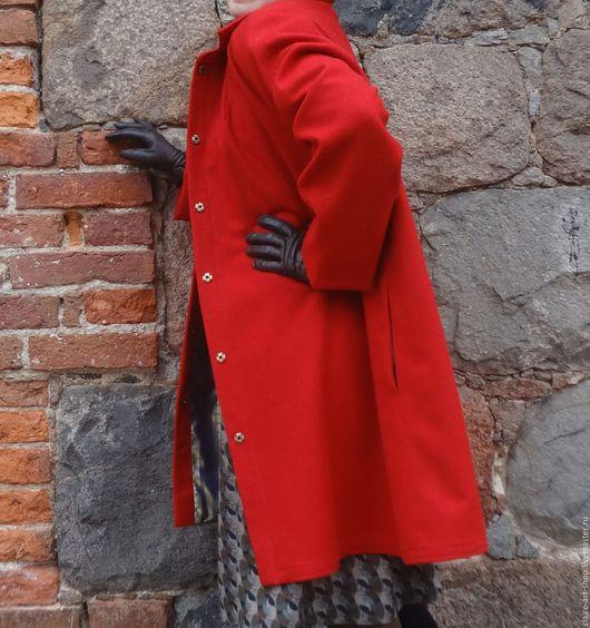 """Верхняя одежда ручной работы. Ярмарка Мастеров - ручная работа. Купить Пальто """" Весна-Красна"""". Handmade. Ярко-красный"""