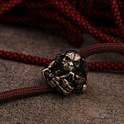 Сувениры и подарки handmade. Livemaster - original item Monkey lanyard bead ,knife bead. Handmade.